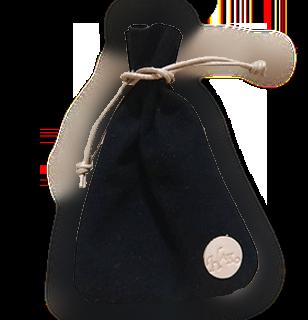 羊革スエードの革巾着